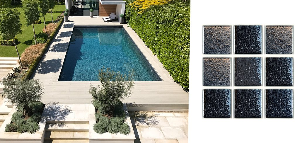 La mejor piscina exterior de Reino Unido revestida con mosaico Hisbalit