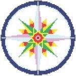 Rosa de los vientos 2x2m. El dibujo puede ser personalizados variando sus dimensiones y colores.