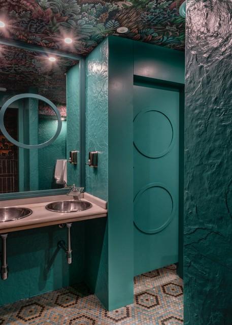 Proyecto-hisbalit-Suelo radial con colores personalizados | Khalan Lounge-