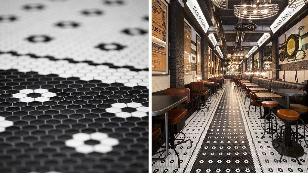 Suelo Art Factory Hisbalit | Bar Cervecería Naparbier