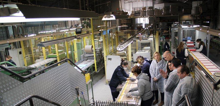 Visita del Colegio de Arquitectos de Cantabria a Hisbalit